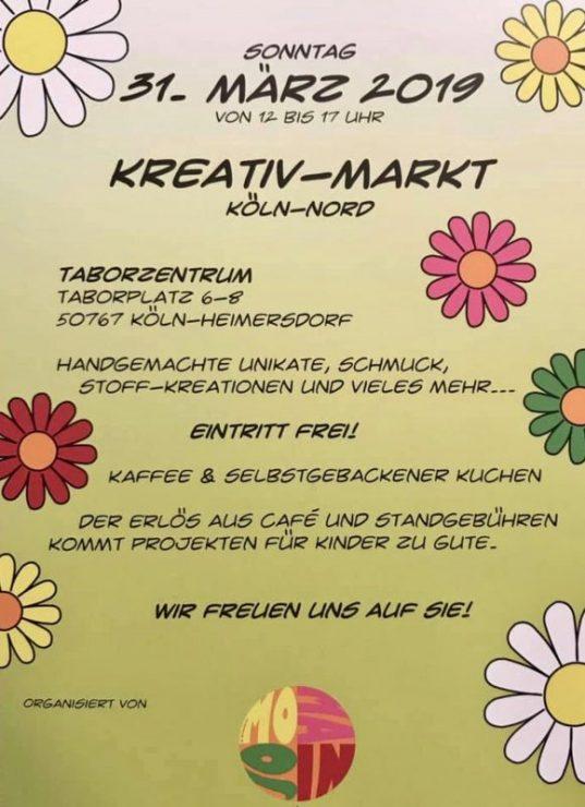 Kreativ-Markt Taborsaal Veranstaltung am 31.03.2019 im Kölner Norden